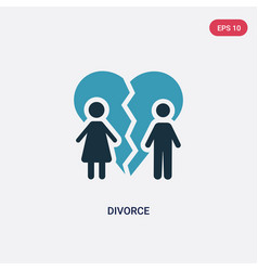 Two color divorce icon from law and justice vector