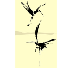 Two Herons vector