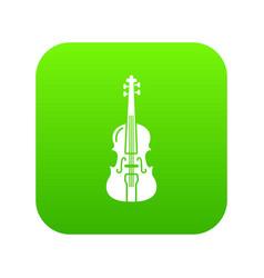 violine icon green vector image