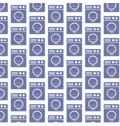 washing machine pattern background vector image
