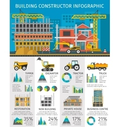 Building constructor infographics vector