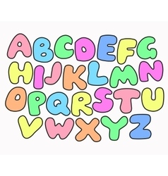 Colorful ABC for Children vector image