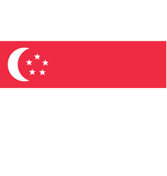 singapore flag for independence day and vector image vector image