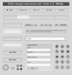 web design elements set white vector image