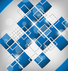 Abstract creative background with squares vector image vector image