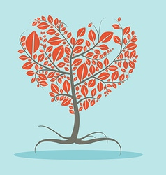 Abstract Flat Design Tree with Roots vector image vector image