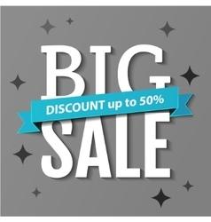 Big Sale inscription Big Sale banner vector image