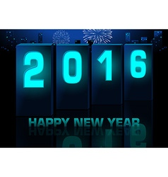 Blue New Year Greeting Card vector image vector image