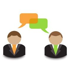business dialogue vector image vector image