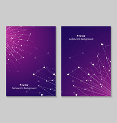 modern brochure cover design vector image