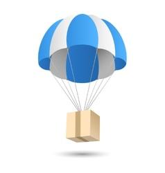 Parachute gift delivery concept emblem vector