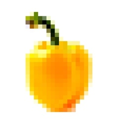pixel yellow bell pepper vector image