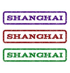 shanghai watermark stamp vector image vector image