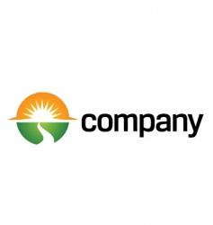 Way to sun logo organization vector