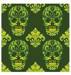 Classic Skull Ornamental Pattern vector image vector image