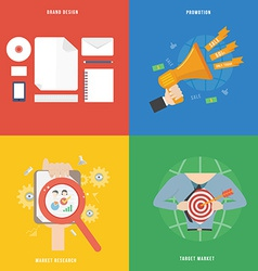 Element of marketing concept icon in flat design vector image