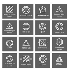 geometric shapes logo vector image
