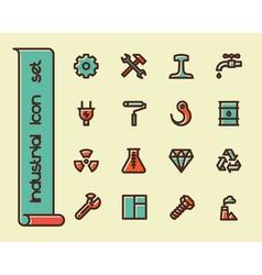 Hand drawn flat icons vector