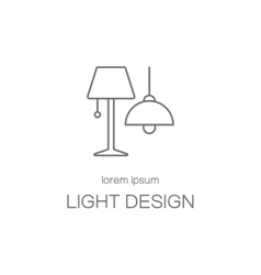 Light desigh house logotype design templates vector image