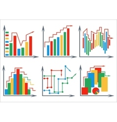 Set histograms white background vector image vector image
