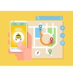Taxi application vector image vector image