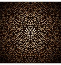 Vintage gold pattern vector image vector image