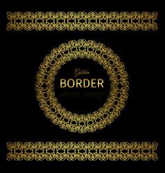 golden border and rosette vector image