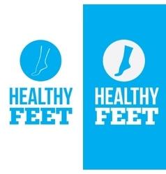 Healthy Feet Logo Concept vector image