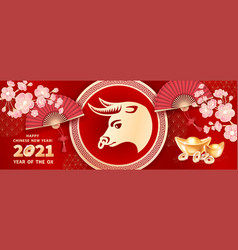 2021 year ox vector image