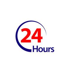 24 hours template design vector