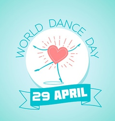 29 April World Dance Day vector image