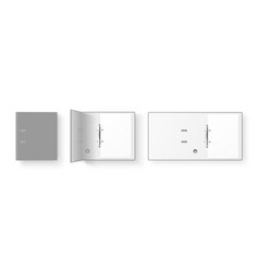3d closed and opened realistic gray blank vector image