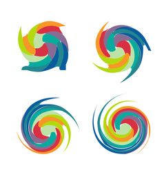 abstract colorful swirly set vector image