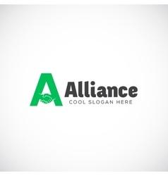 Alliance abstract logo template symbol vector