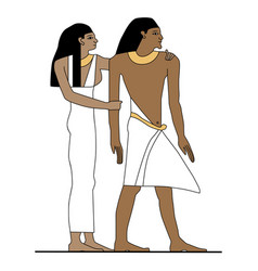 Ancient egypt family vector