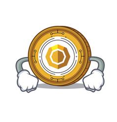Angry komodo coin mascot cartoon vector