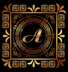 Art deco frames and borders vector