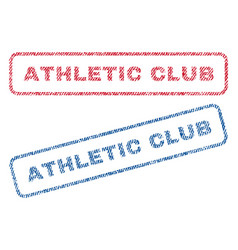 athletic club textile stamps vector image