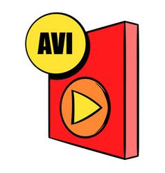 avi file icon cartoon vector image vector image