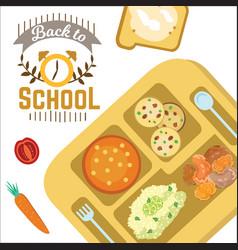 Back to school horizontal banner education vector