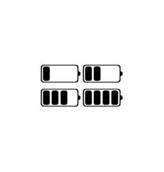battery icon set black vector image