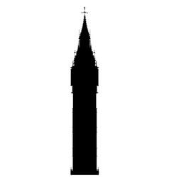 big ben silhouette vector image
