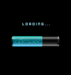 blue loading bars with shine vector image