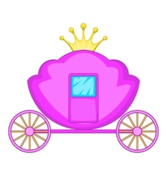 Carriage icon cartoon style vector