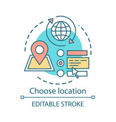 Choose location concept icon planning travel vector
