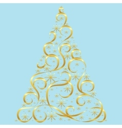 Christmas card Xmas tree vector image