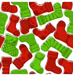 Christmas stockings pattern vector