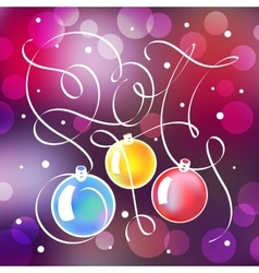 Christmas with lettering in 2017 vector