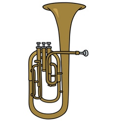Classic brass bombardone vector image