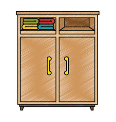 Closet with clothes icon vector